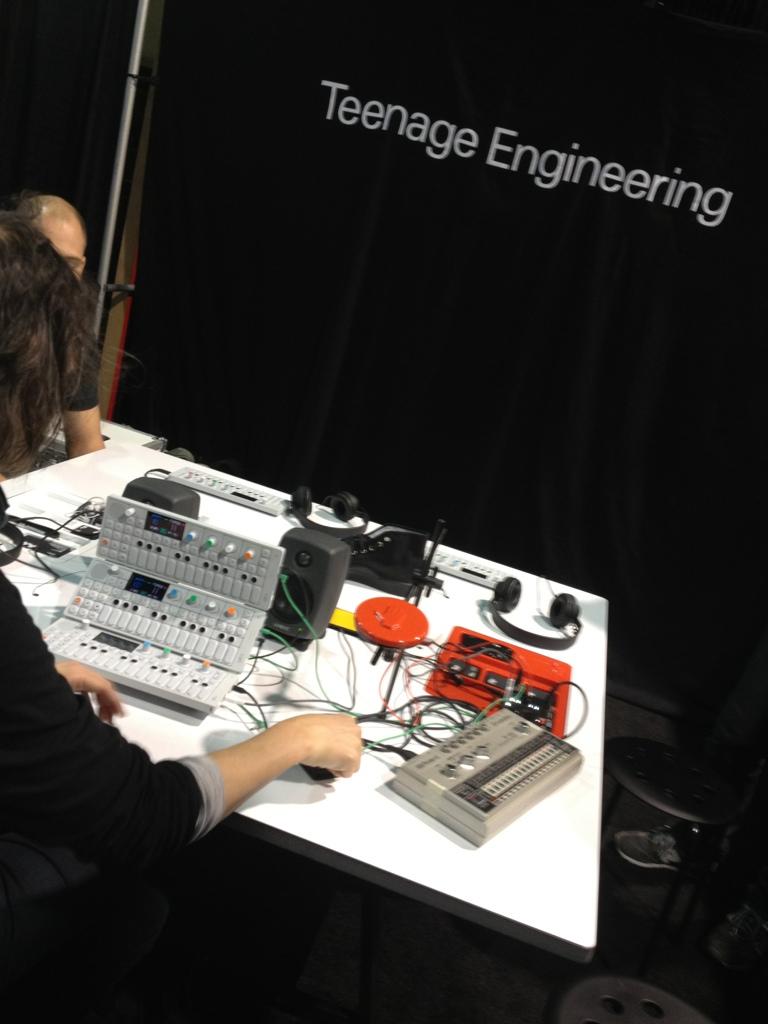 device table at Teenage Engineering